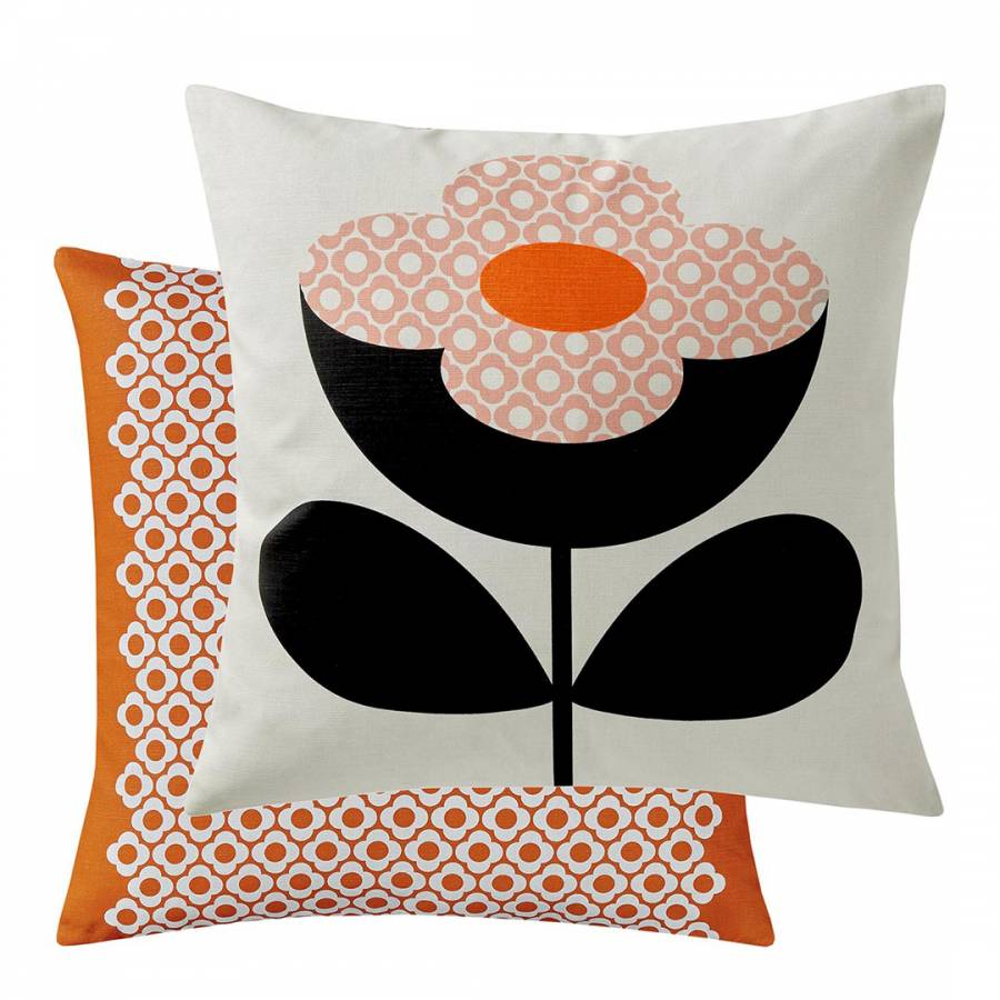 Image of Buttercup Stem 45x45cm Cushion Persimmon