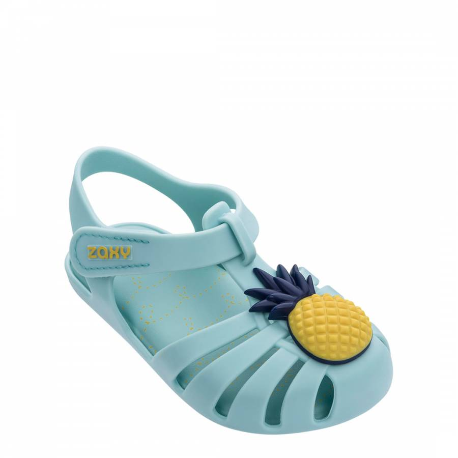 Image of Baby Aqua Pineapple Jelly Shoes