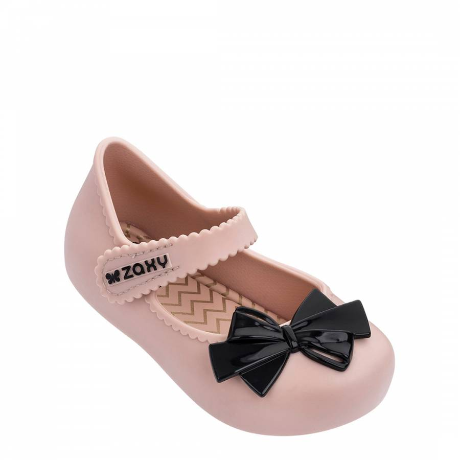 Image of Baby Nude/Black Bow Shoes