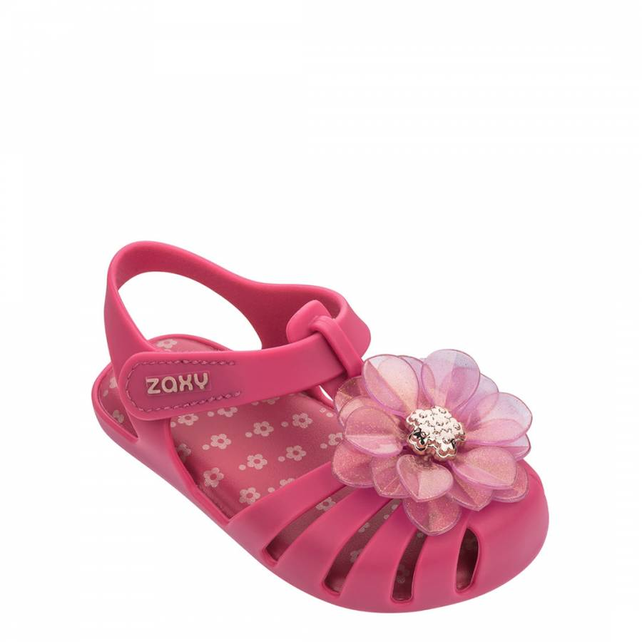 Image of Baby Pink Flower Jelly Shoes
