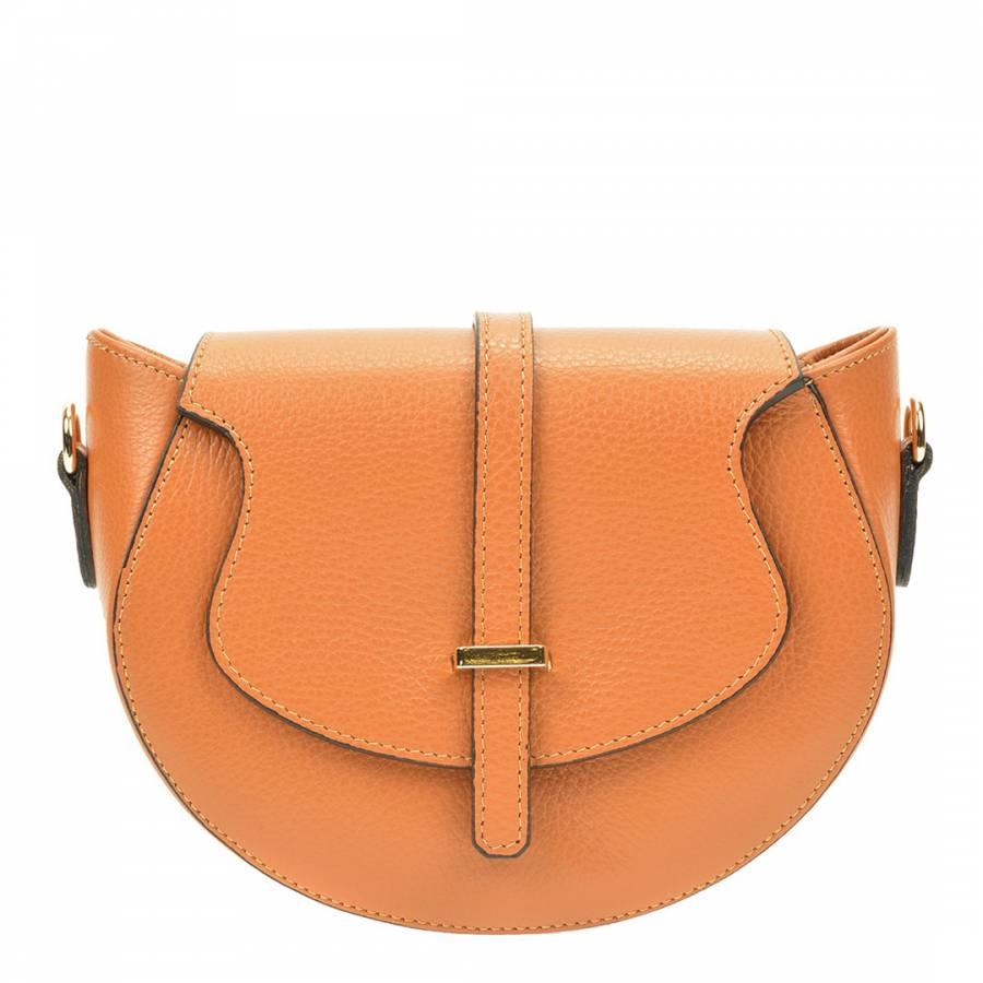Image of Cognac Leather Crossobody Bag
