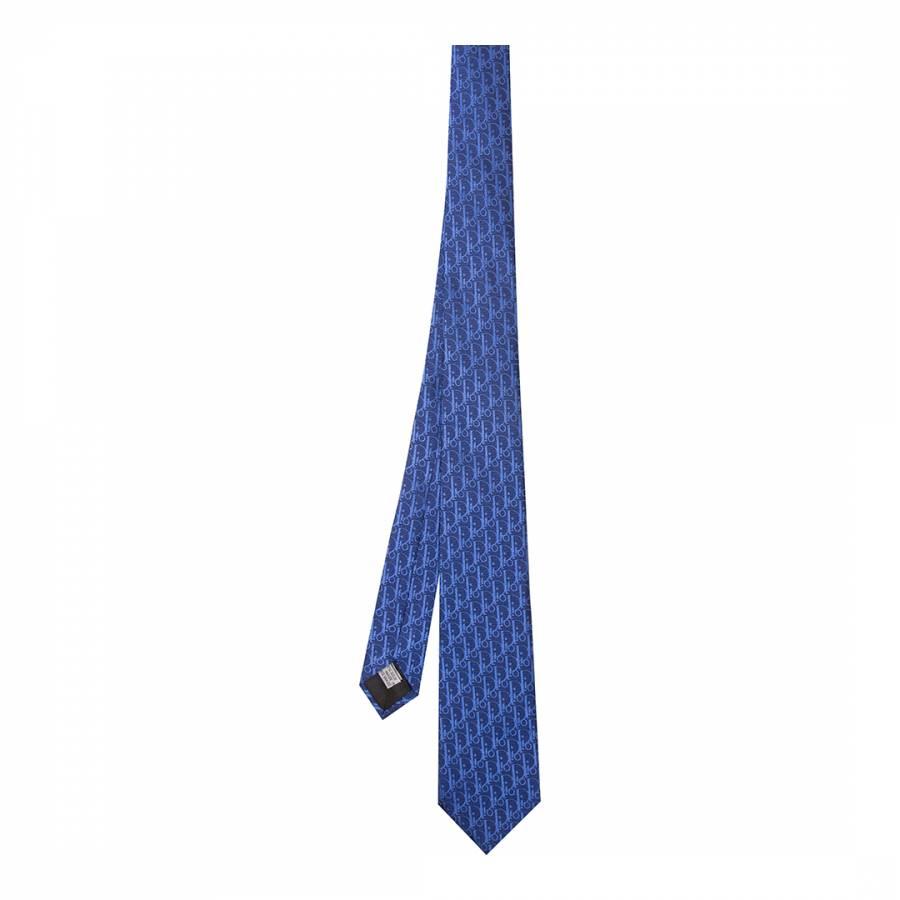 Image of Navy Blue Dior Tie