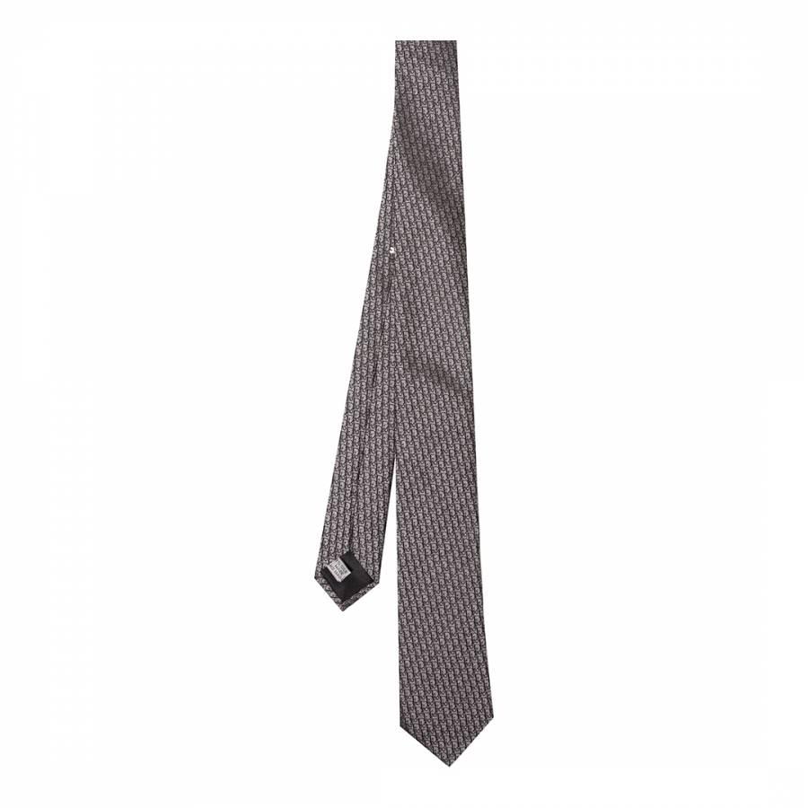 Image of Grey Dior Silk Tie