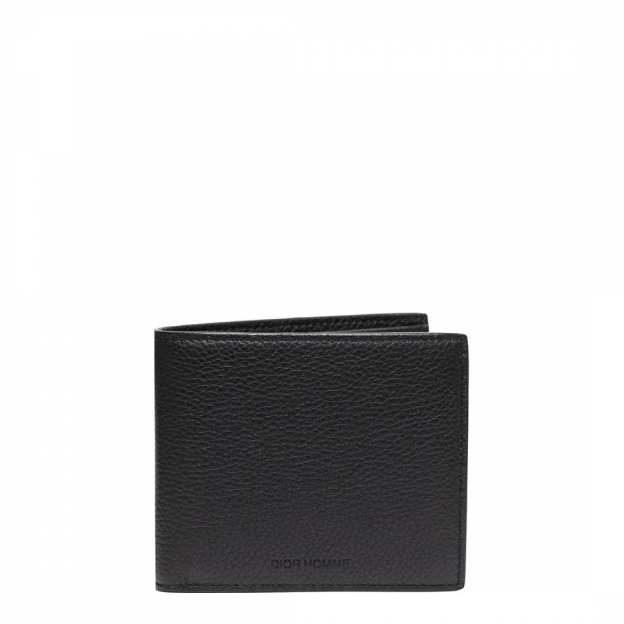 Image of Black Leather Dior Wallet