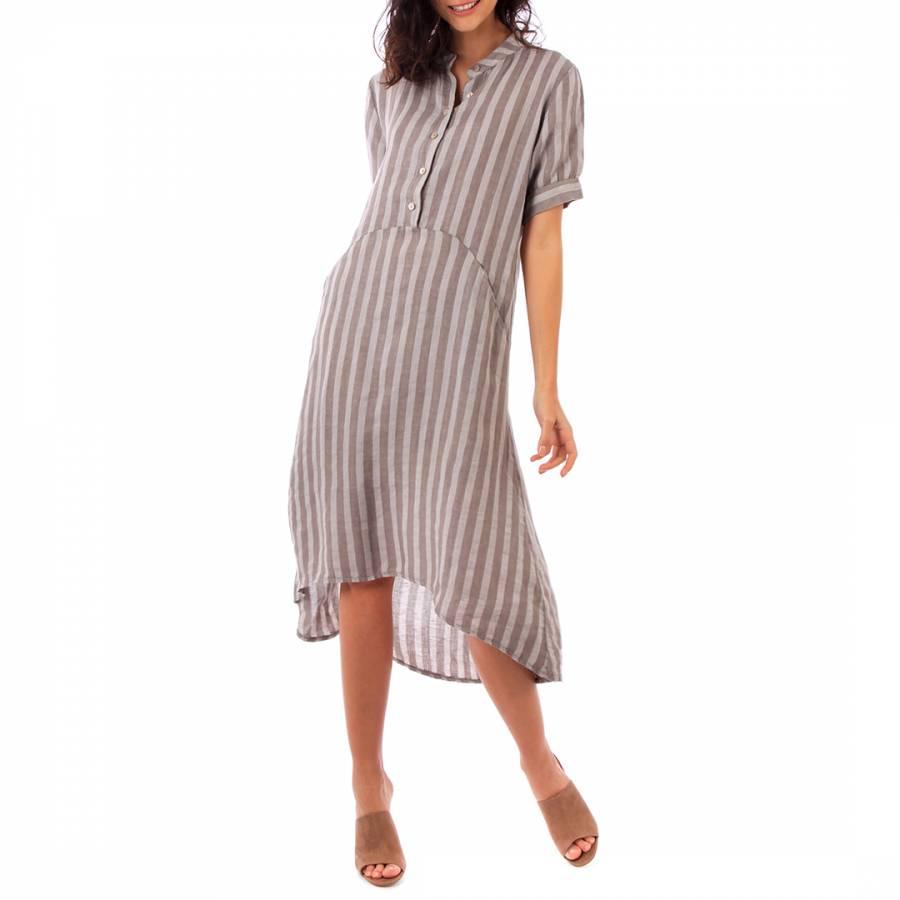 Image of Beige Midi Linen Dress