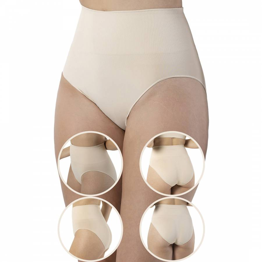 Image of 4 Pack Beige Seamless Shaping Brief