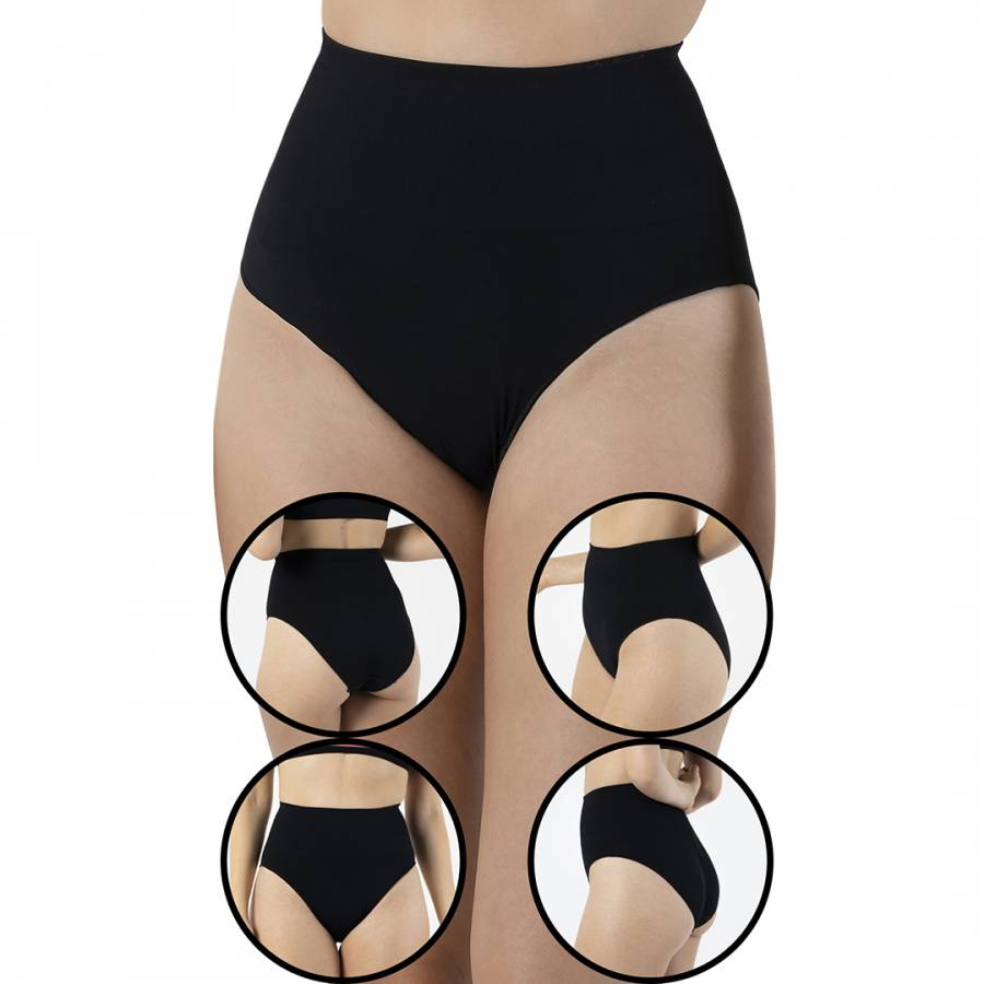 Image of 4 Pack Black Seamless Shaping Brief