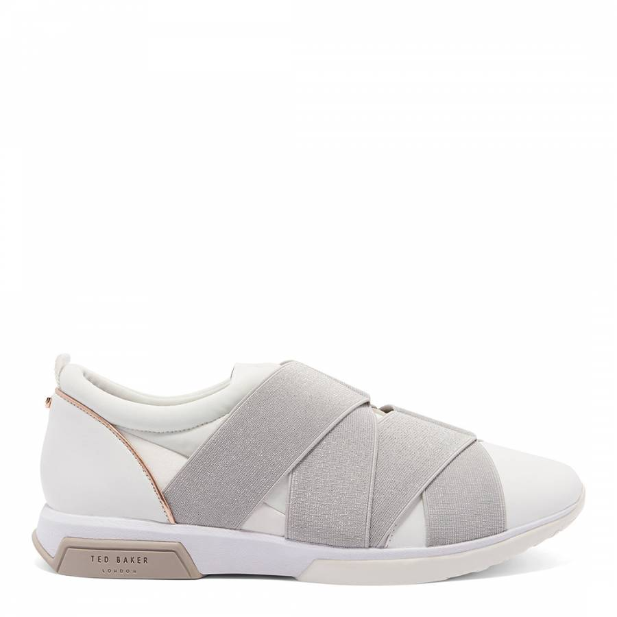 White Leather Queane Runner Trainers