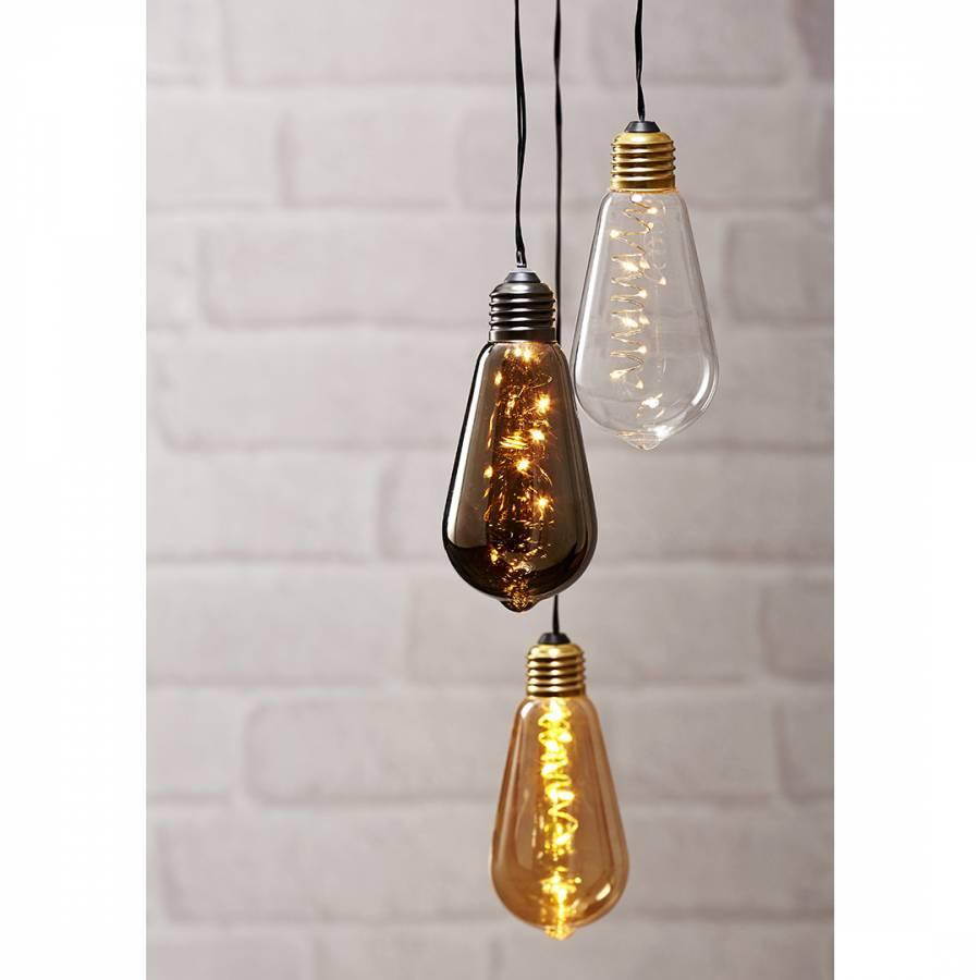 Image of Black LED Hanging Bulb