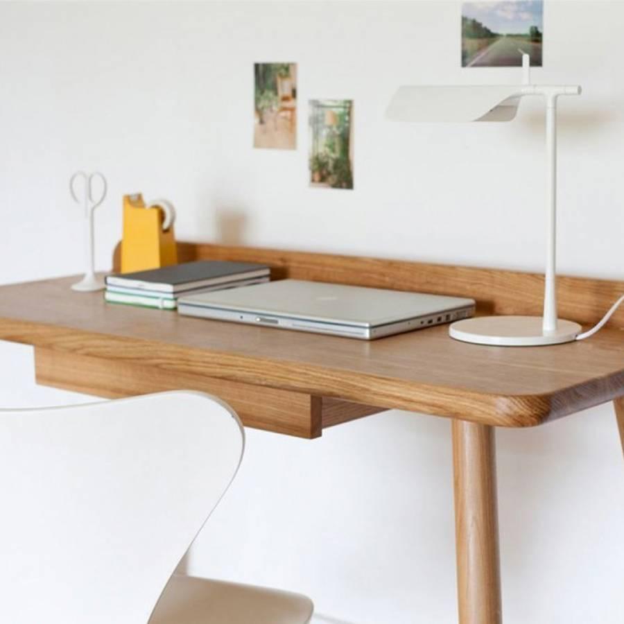 Novak Computer Desk, Light Walnut - BrandAlley