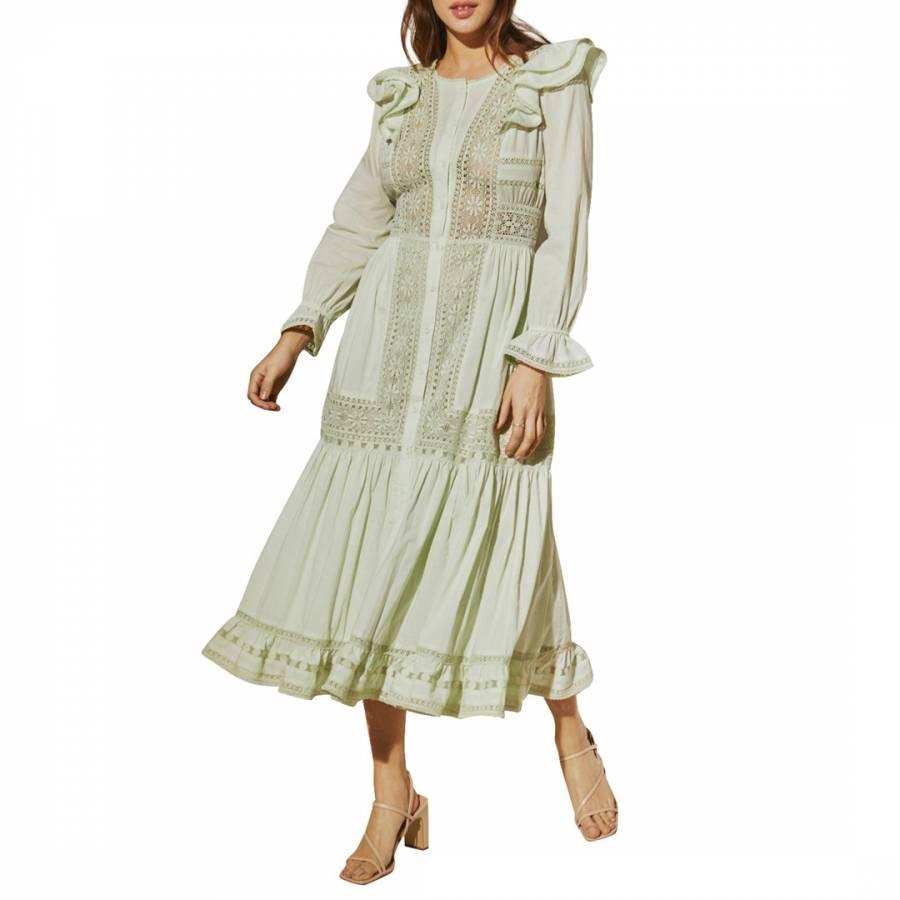 Image of Aqua Statement Calida Dress