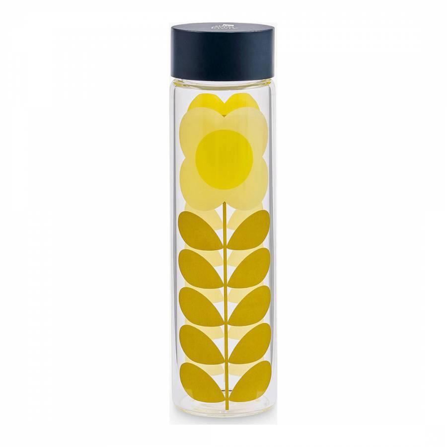 Image of Daisy Stem Glass Water Bottle 525ml