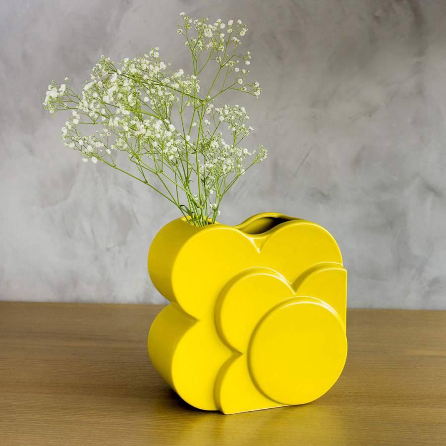 Image of Dandelion Layered Square Flower Vase