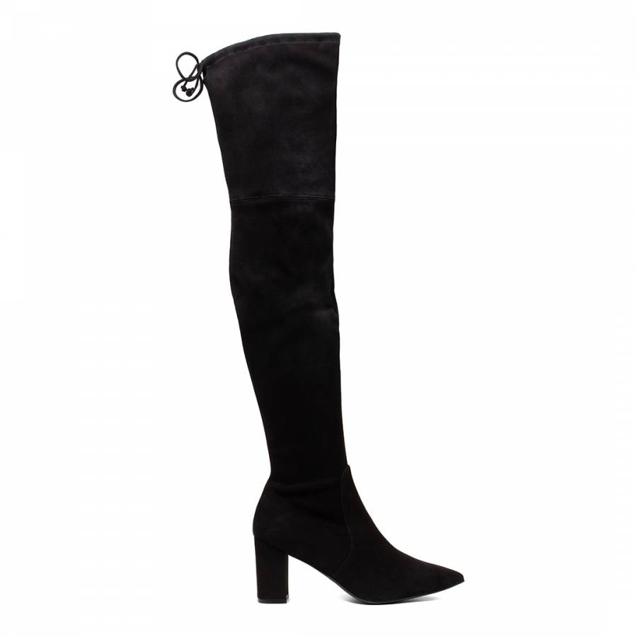 Black Lesley 75 Suede Stretch Boots
