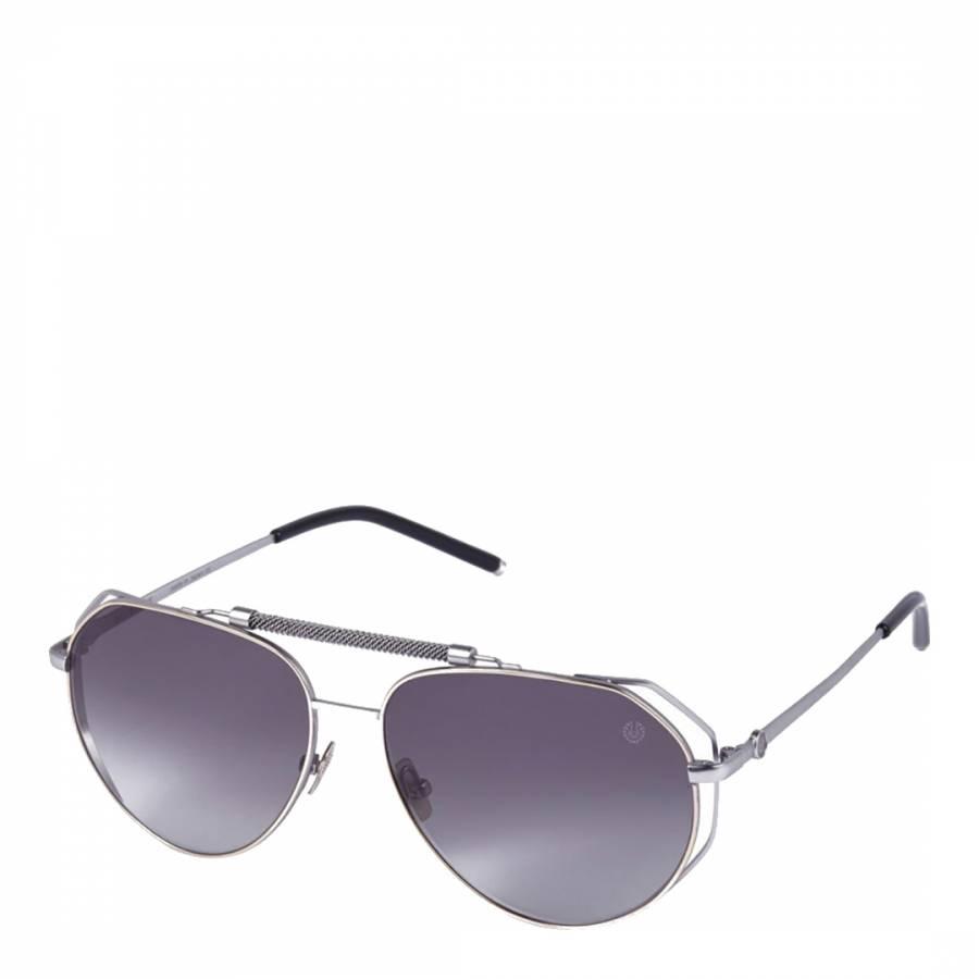 Image of Unisex Matte Silver Belstaff Sunglasses 60mm