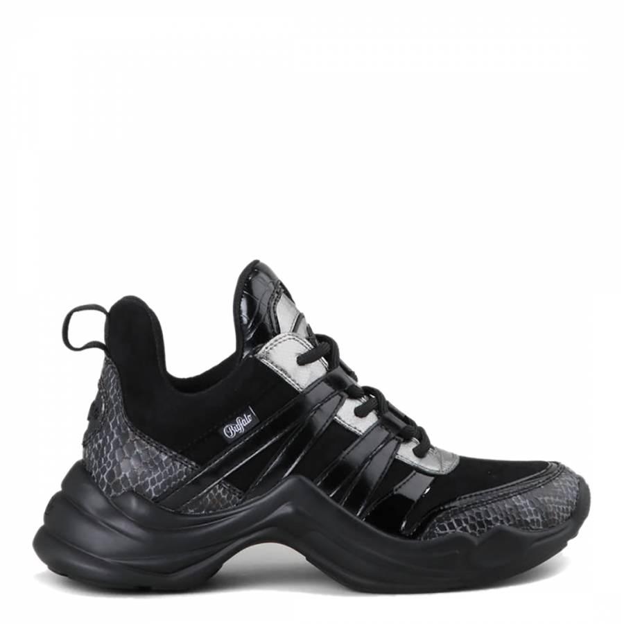 Image of Black PU Cavi Sneaker