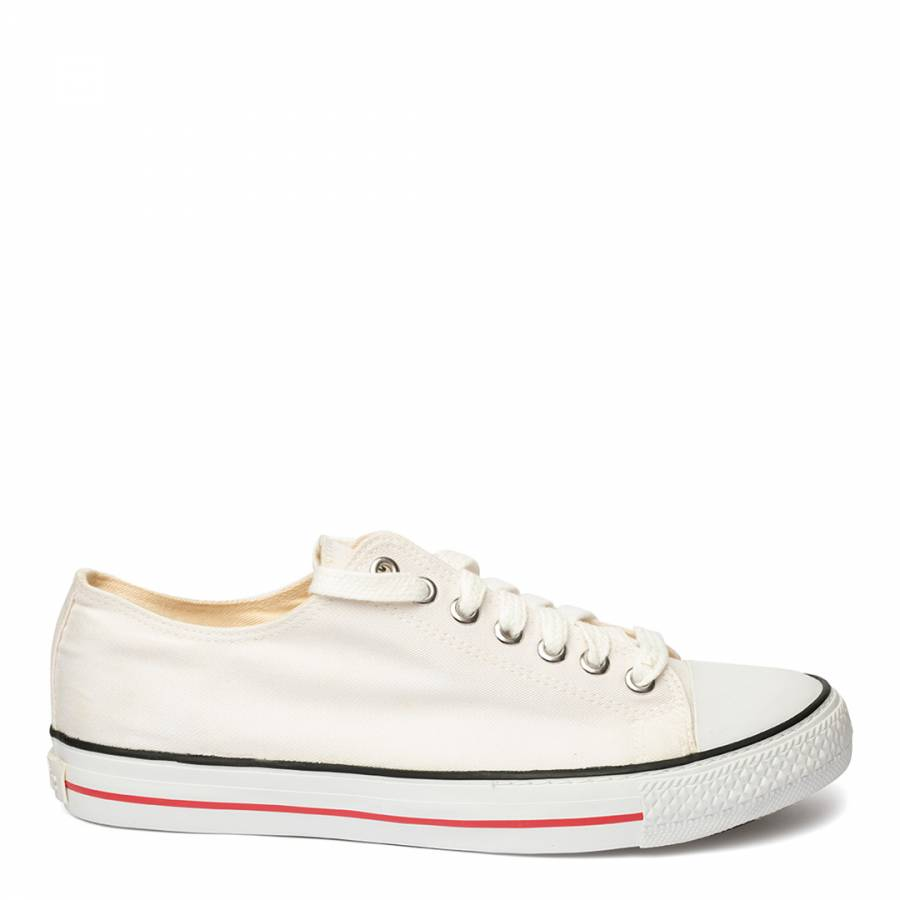 Image of White Eth Low Top Trainers