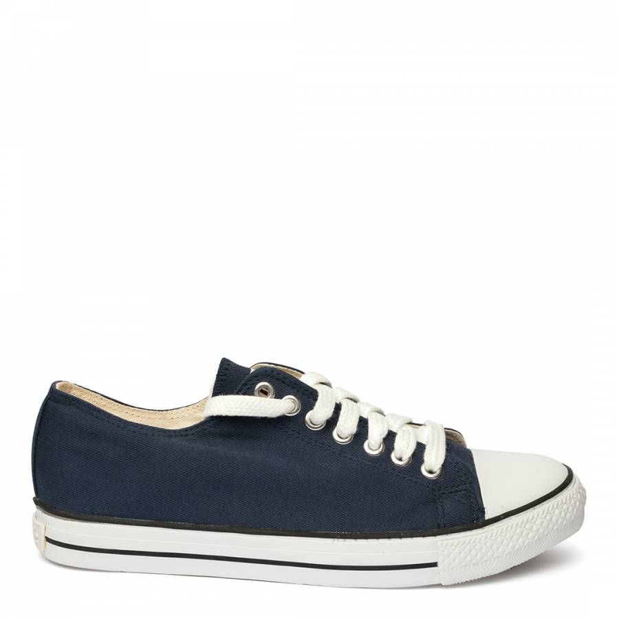 Image of Navy White Sole Eth Low Top Trainers