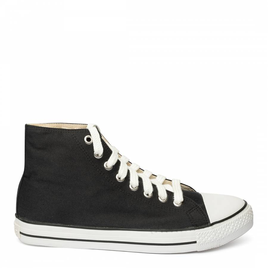 Image of Black White Sole Eth High Top Trainers