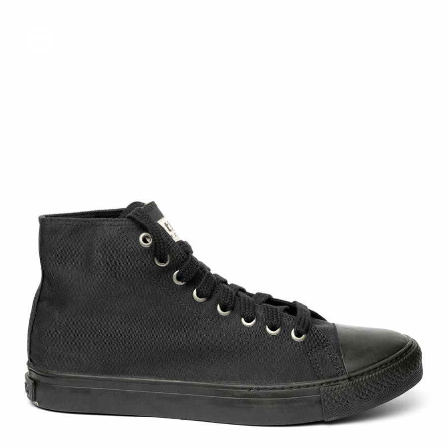 Image of Triple Black Eth High Top Trainers