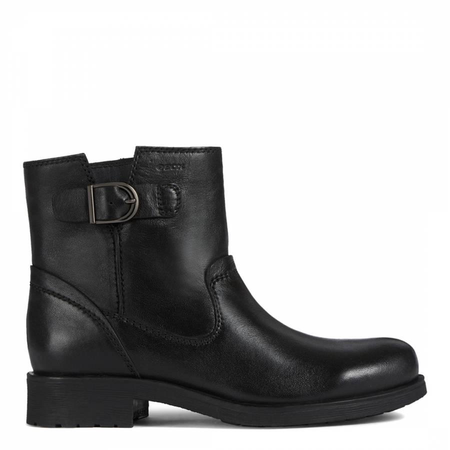 Situación medio litro Silicio  Black Rawelle Leather Ankle Boots - BrandAlley