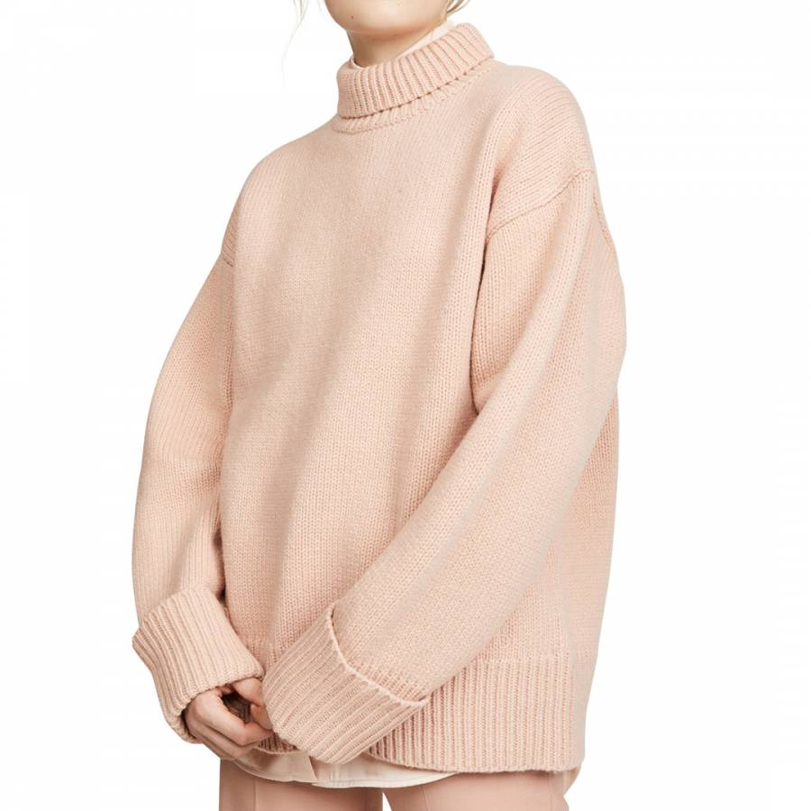 Pale Lilac Cowl Neck CashmereWool Blend Jumper BrandAlley
