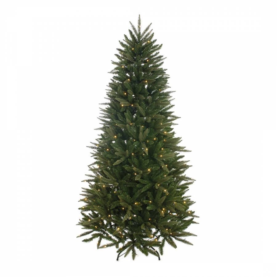 Prelit Pennine Fir Tree With 180 LEDs, 180cm - Festive ...