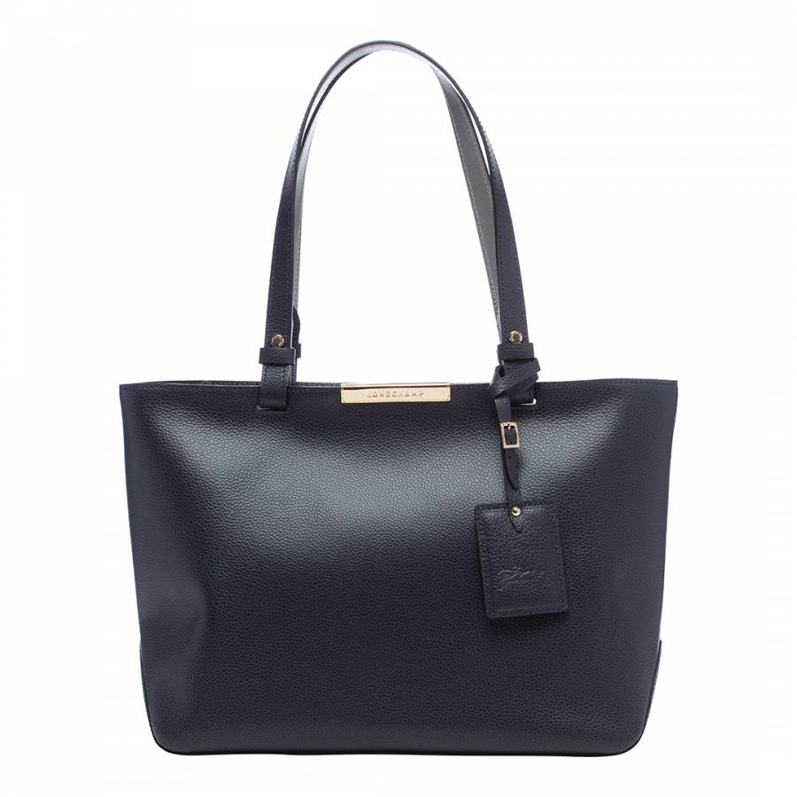 Navy Le Foulonne City Shoulder Bag
