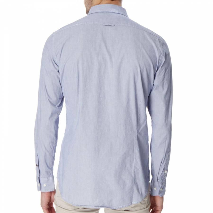 Light Blue Thin Pinstripe Stretch Shirt Brandalley