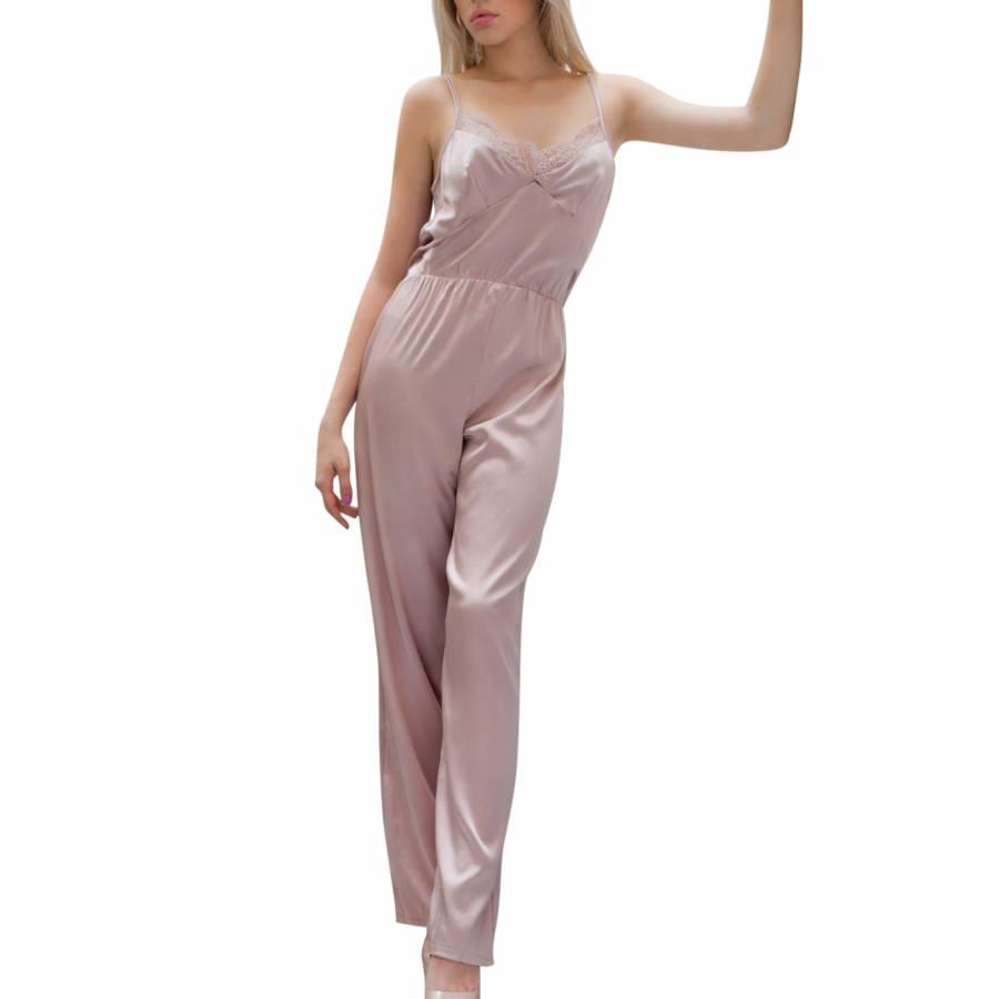 62e2ae33358f Myriam Girard Pink Reveuse Jumpsuit