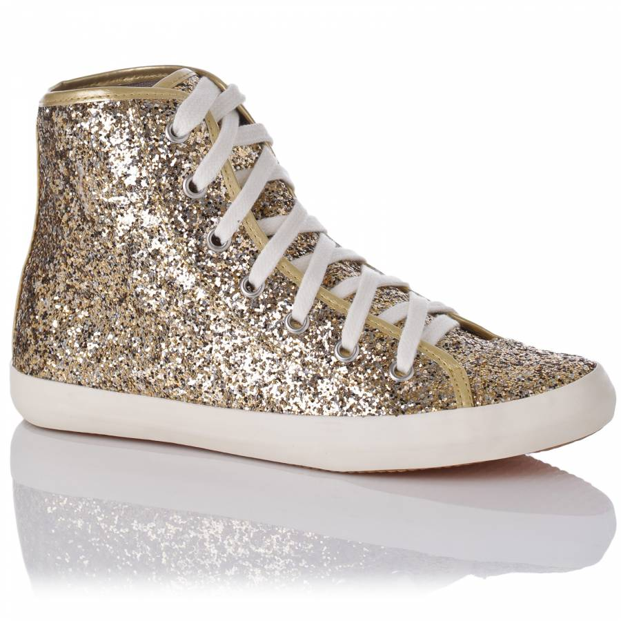 Gold/White Cosmic Glitter High-Top