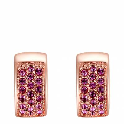 5a7932e86ad1 Rose Gold Swarovski Crystal Elements Round Earrings