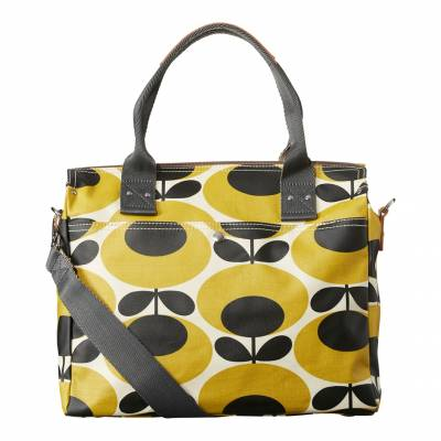 cf2001781c4 Mustard Giant Oval Flower Zip Messanger Bag In another basket +