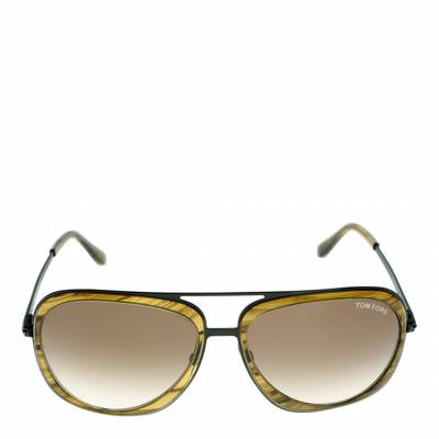 6083f331690f3 Men s Andy Yellow with Black Arms Graduated Green Sunglasses 59mm