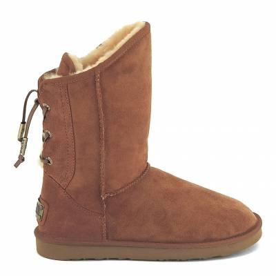 Chestnut Suede Dita Short Boots