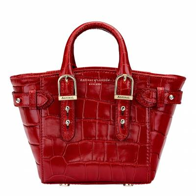 a6bef1d10fb Red Croc Print Leather Marylebone Micro Bag In another basket +
