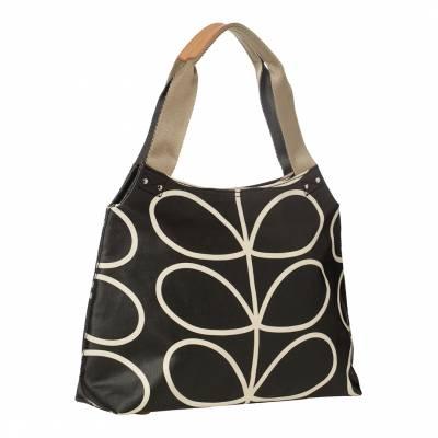 5fc9931976d8 Liquorice Giant Linear Stem Classic Zip Shoulder Bag
