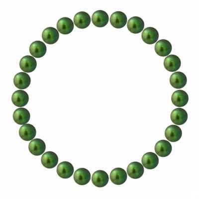 Green Pearl Elasticated Bracelet