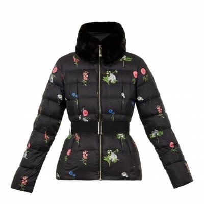 Black/Multi Florence Printed Down Jacket