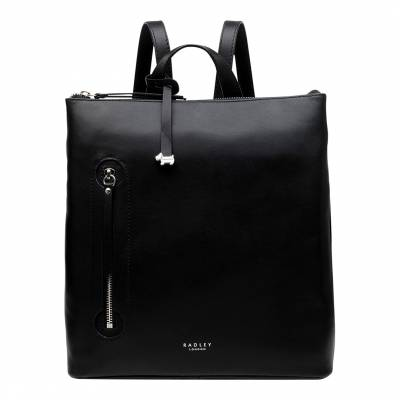 Black Taylors Court Medium Ziptop Backpack