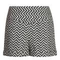 Reiss Black/White Zig Zag Bobbie Shorts