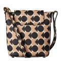 Orla Kiely Blush Pink Spot Square Triangle Print Vinyl Bucket Bag