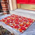Entryways Red/Beige Poppies Non-Slip Doormat 40x60cm