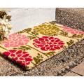 Entryways Pink/Green Dahlias Handwoven Doormat 40x60cm