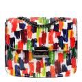 Luisa Vannini Multi Patterned Shoulder Leather Bag
