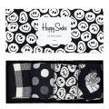 Happy Socks Black/ White Happy Sock 4 Pack Gift Boxes