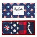 Happy Socks Blue/Red Happy Sock 4 Pack Gift Boxes