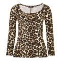 Baukjen Leopard Print Abigail Ballet Top