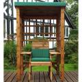 Charles Taylor Wentworth Single Arbour with Green Cushions