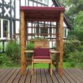 Charles Taylor Wentworth Single Arbour with Burgundy Cushions